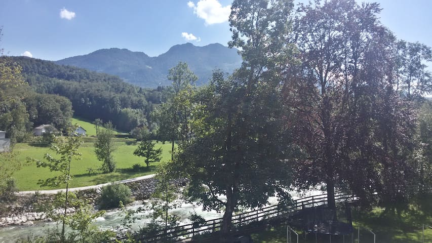 Mountain and River view from the Apartment