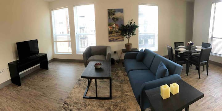 CLEAN LUXURY MASS AVE INDY DOWNTOWN APARTMENT.