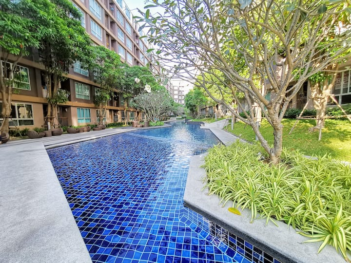 D Condo Creek Pool View+WIFI 15mins to Patong