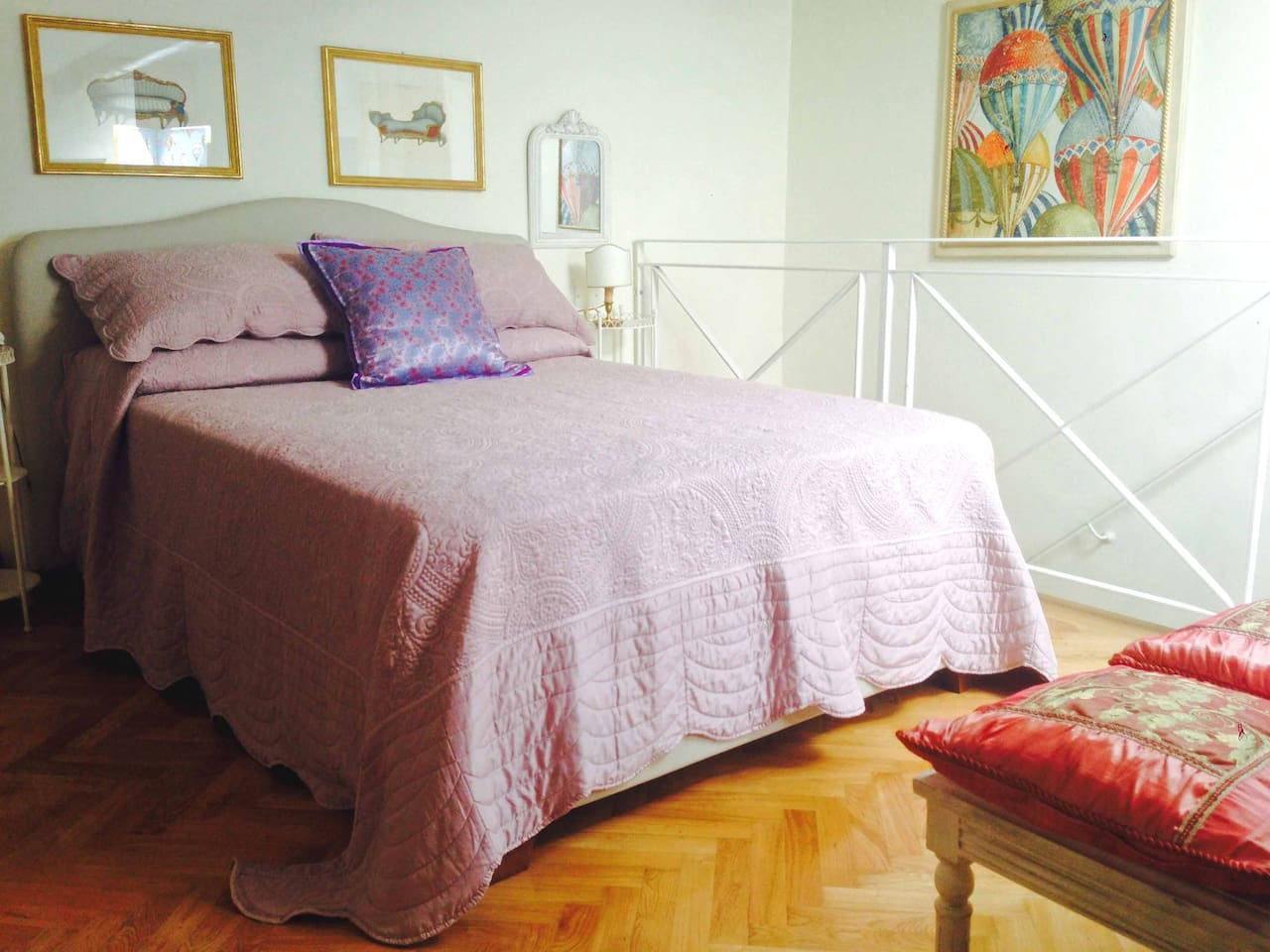 Bedroom - the spacious double bed