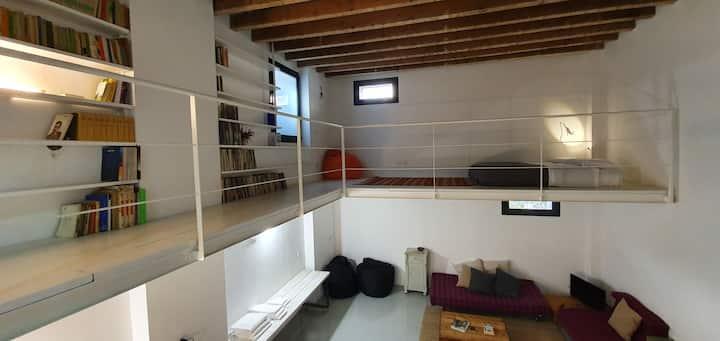 Central Studio LOFT, 80 sq mt, 6 mt ceiling