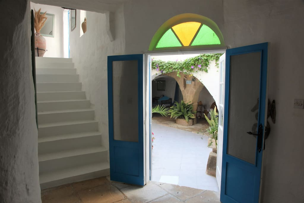 Door leading into the internal courtyard
