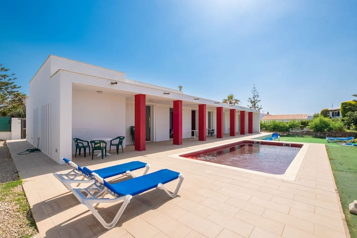 Modern with Pool Outside and Roof Top Terrace - Villa Cap de Font
