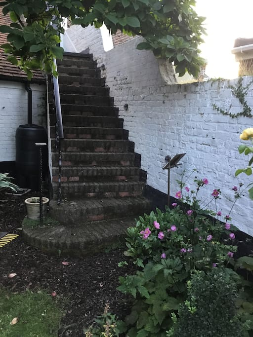 15 steps leading to the studio