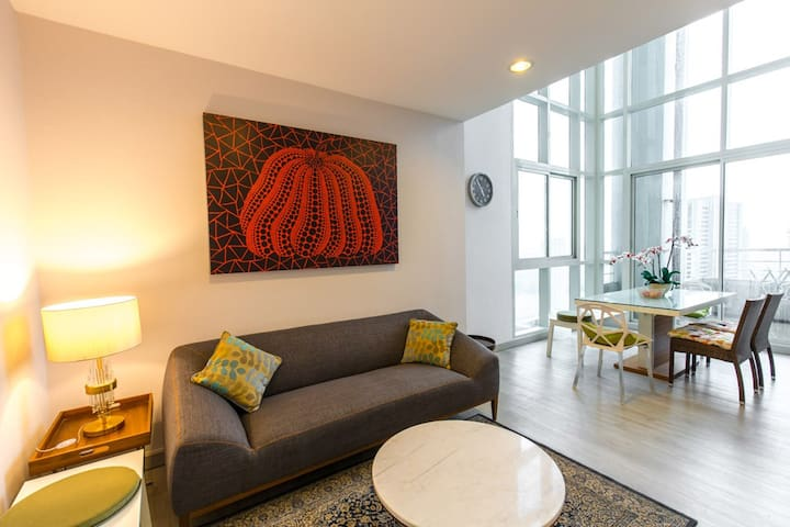 Duplex PH+riverview+nearby IconSiam+3BR+sleep8