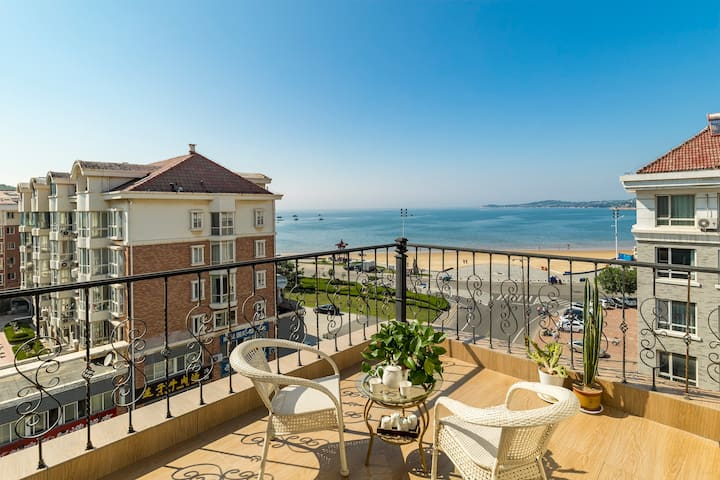 国际海水浴场金海滩146平大三室两厅 20平超大独立观海露台