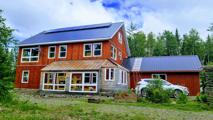 Experience off-grid  homestead in the forest