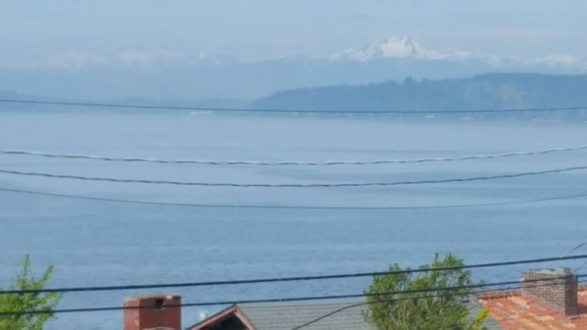 Olympic mountains across the Puget Sound