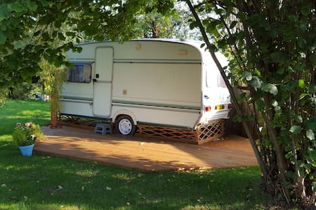 Retro 80's caravan in rural retreat - Othery - Bed & Breakfast