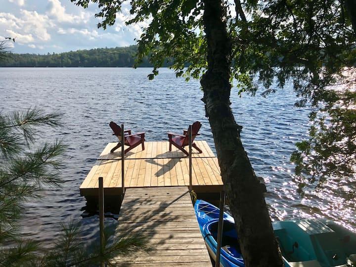 Ici et maintenant, au bord du lac (quai privé)