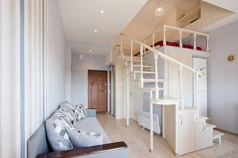 Cute two levels apartment close to city center!