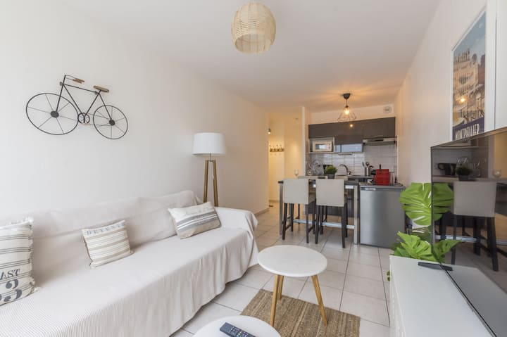 Nice apt with terrace - Montpellier near center