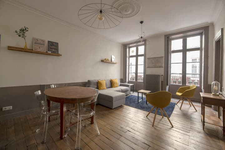 Spacious apartment for 6 people, in the historic center of Rennes