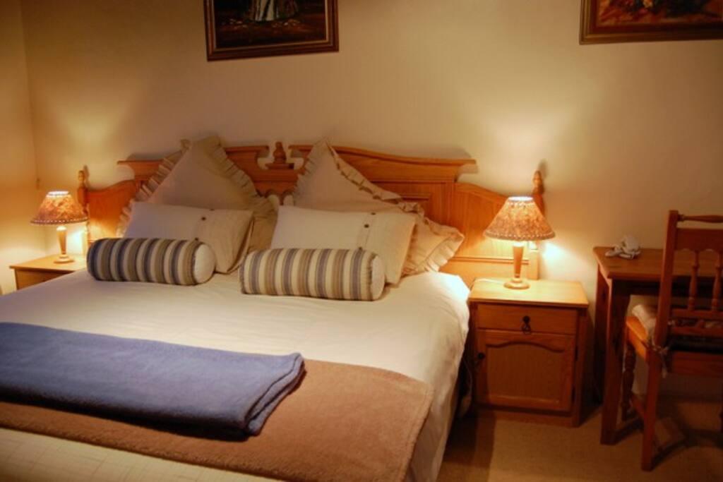 Main bedroom in chalet