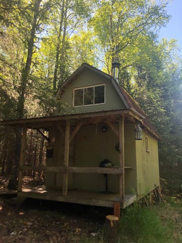 The Little Green Cabin is tucked privately away from all the rest of the Alaskan Byways cabins.