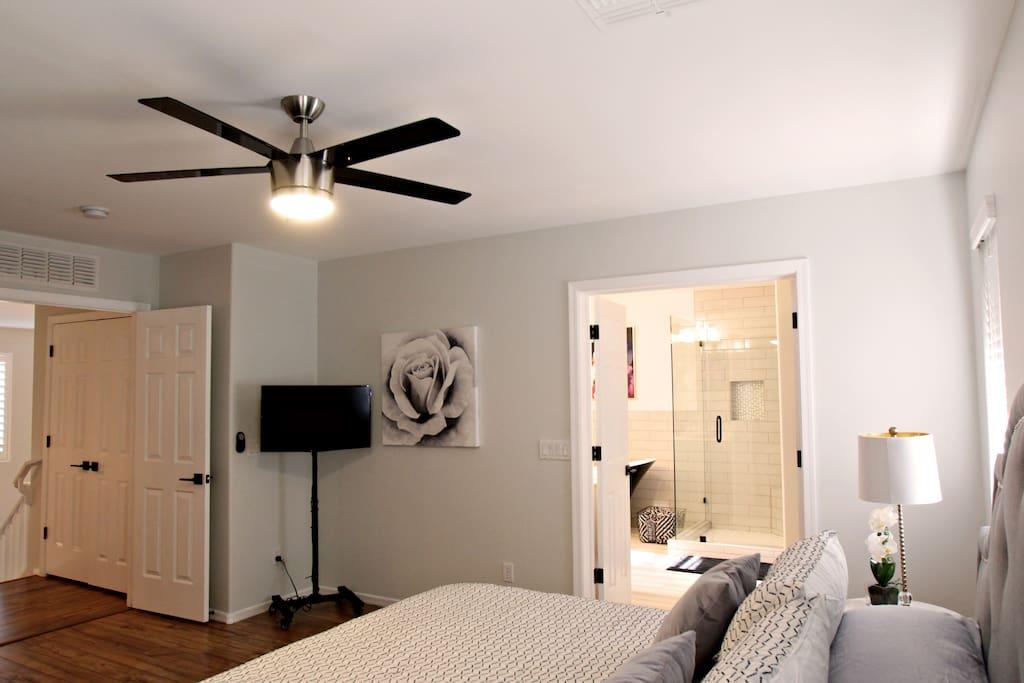 "Master Bedroom has a 32"" Roku enabled HD TV"