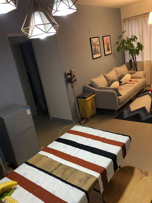 Dining table connected with living room