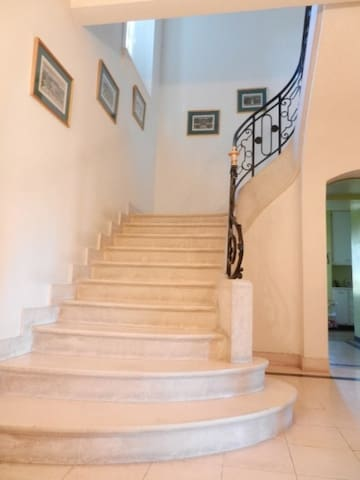 View of marble staircase