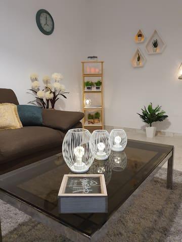 Salon climatisé, télévision par satellite, Wifi