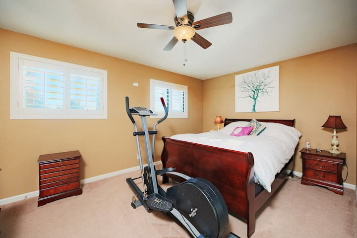 Master bedroom (the elliptical has been removed for more space)