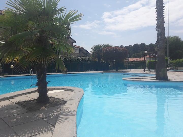 Capbreton studio avec piscine
