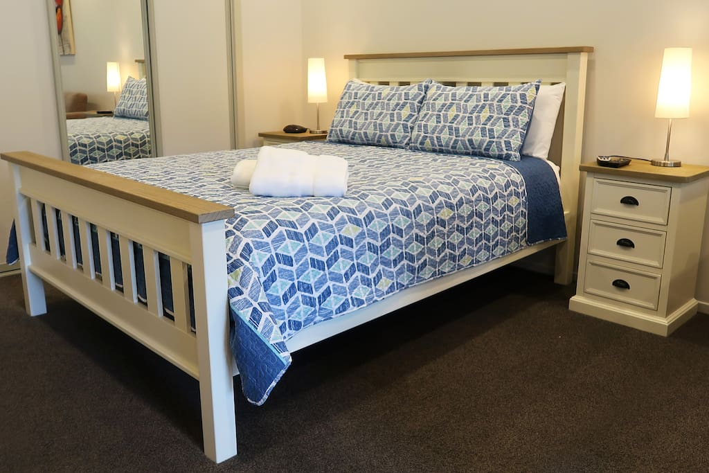 Comfortable new queen size bed