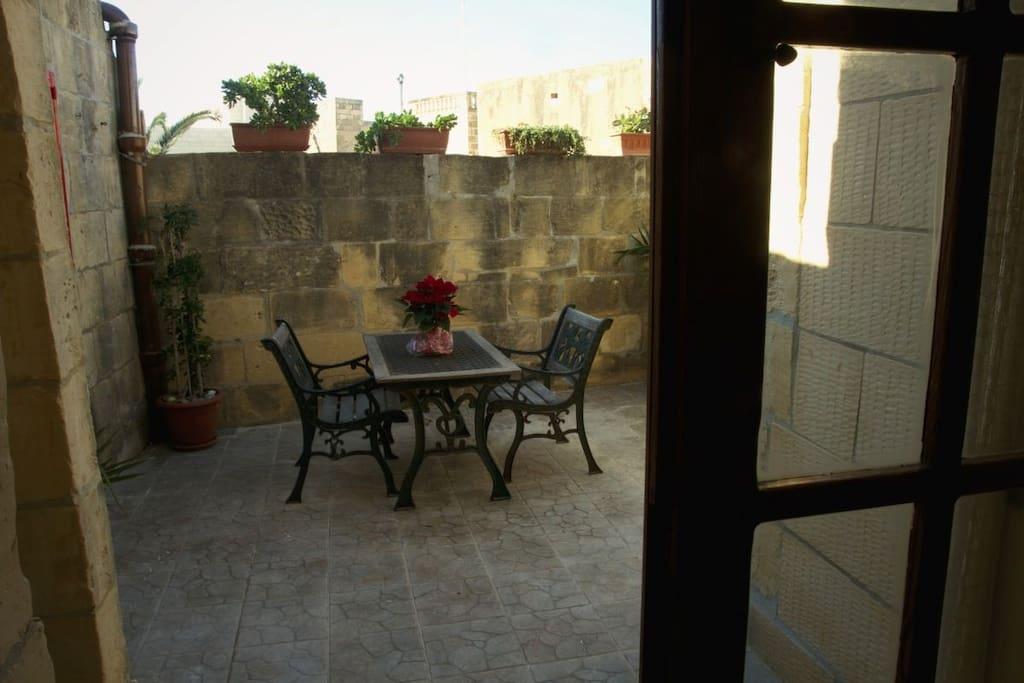 Eigene, blickgeschützte Terrasse