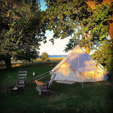 Blissful Bell Tent~Healing~Boutique Glamping