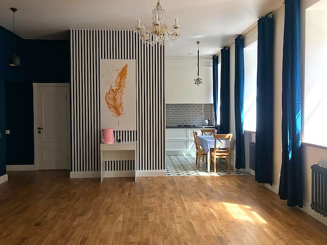Spacious apartment in the heart of St-Petersburg