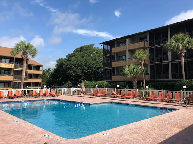 100 yards from the beach!  1st floor unit!