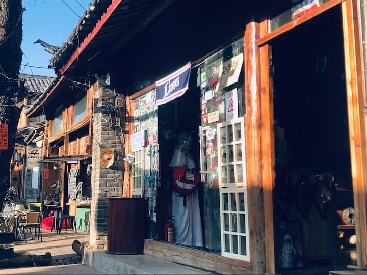 杂货铺咖啡的特色小屋