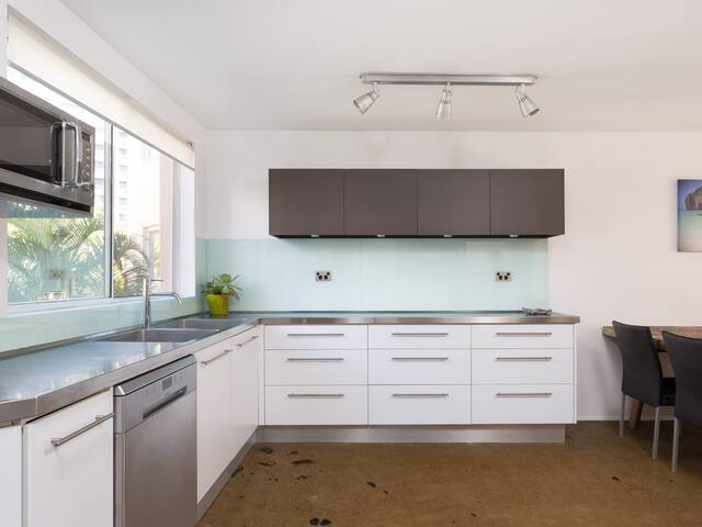 Huge designer kitchen so you can prepare a feast for your family and friends - self contained kitchen