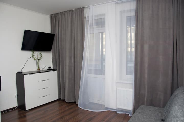 Уютная квартира-студия в ЖК Солнечный город