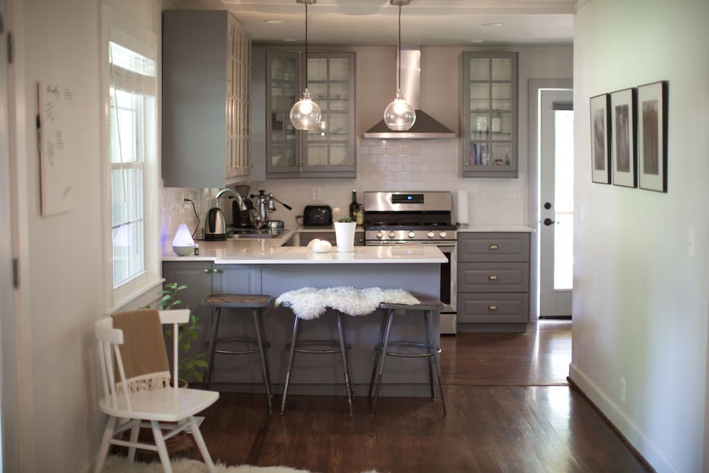 New Gourmet Kitchen with Gas Stove