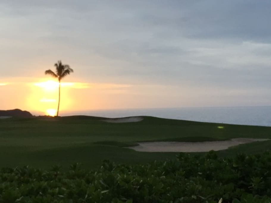 Sunsets daily over the ocean and golf course