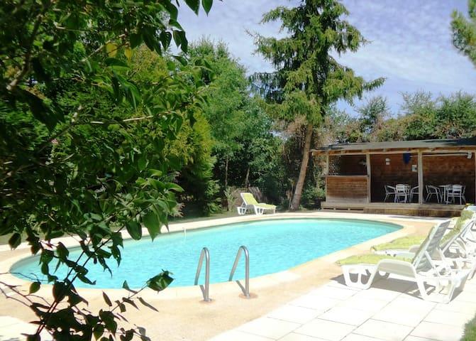 Pine Cottage at Chataigne, gites with pool sleep 4