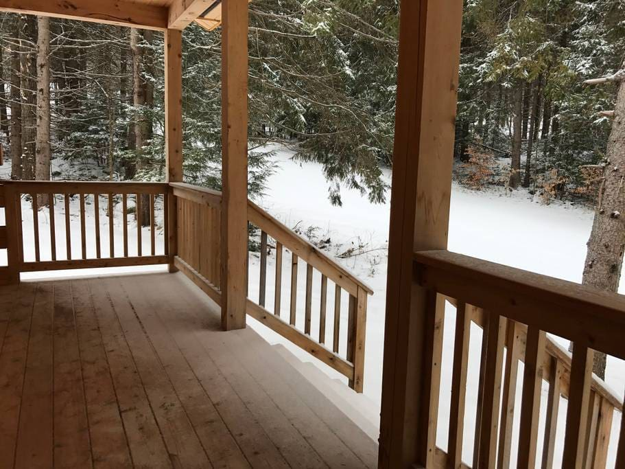Back porch to the ski trail.