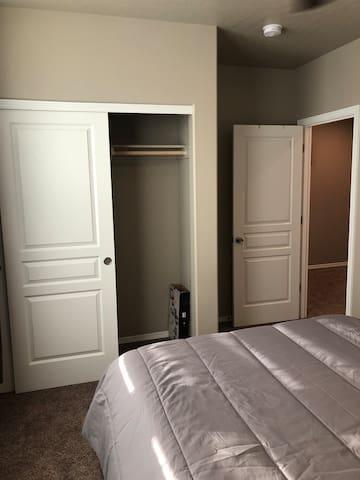 Full closet if needed.