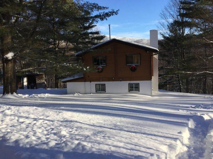 Black Bear Panabode - ski cabin close to Jay Peak