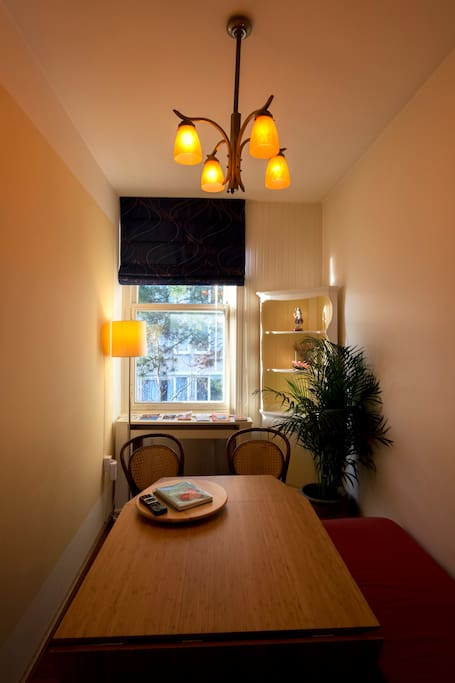 A cup of coffee or tea with your croissant in the Sunny room to start your day