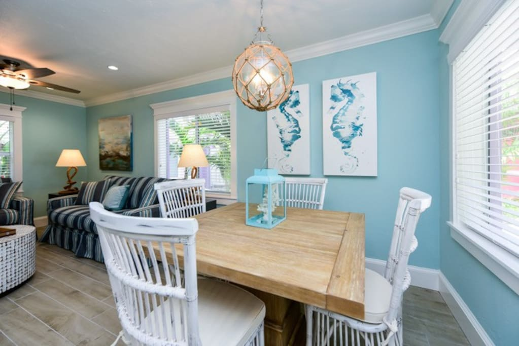 Dining Room off of the Living and Kitchen Spaces