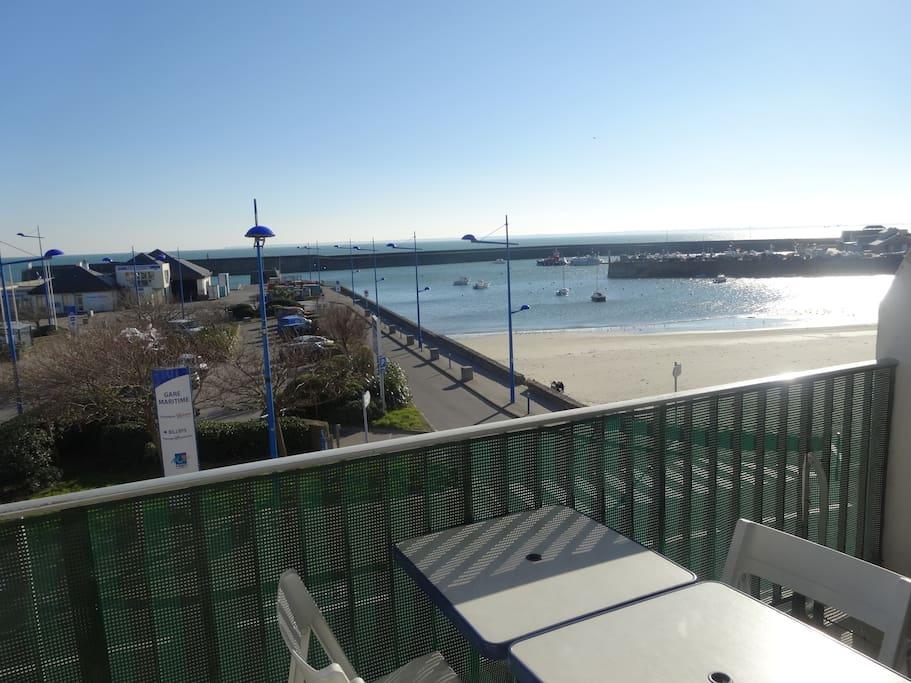 Terrasse vue sur Belle Ile