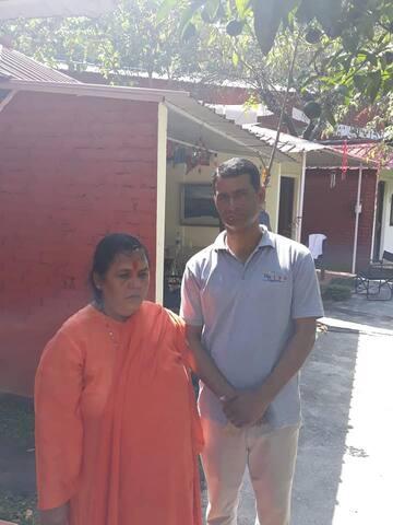 Uma Bharati pays a visit