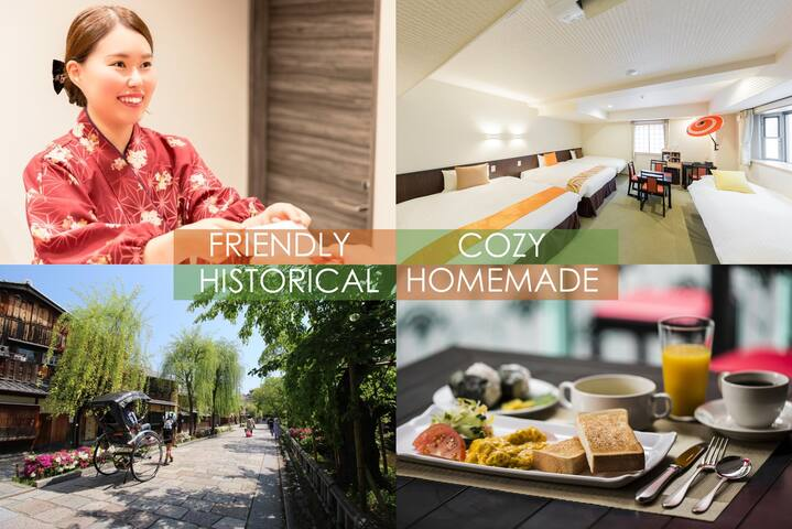 Kyoto INN Gion  31㎡/4 bed room/free breakfast