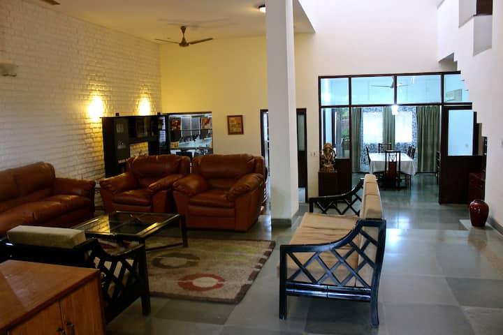Bright room in a tastefully designed villa