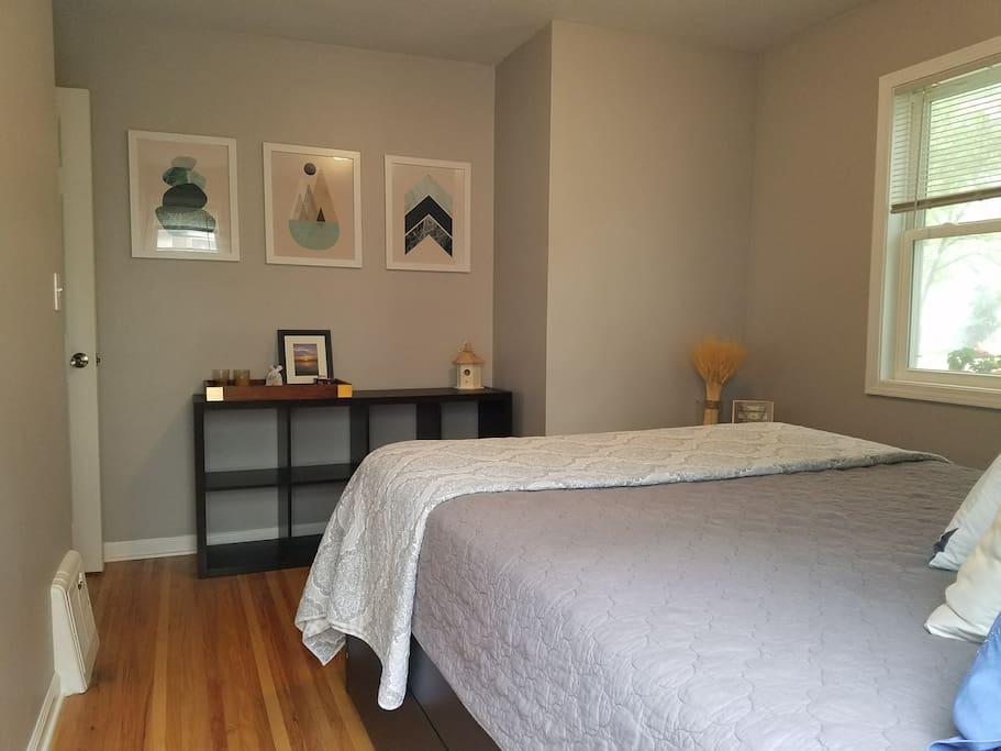 Your room offers plenty of natural light and storage space.