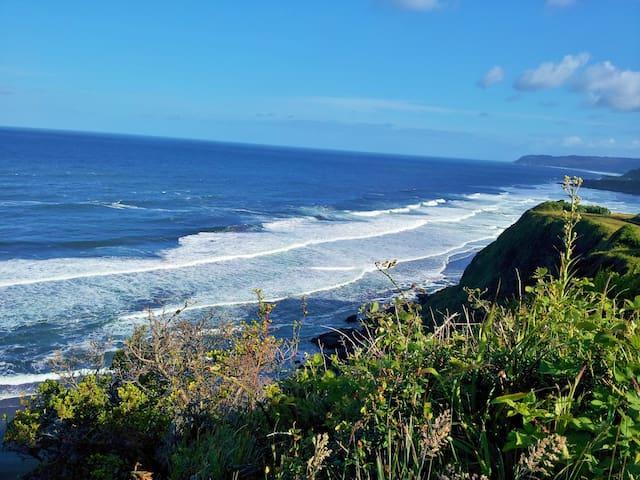 Playa Calfuco a pocos metros