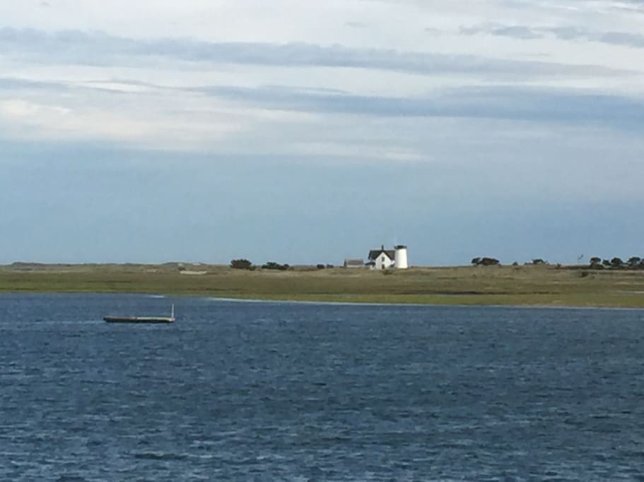 views of stage harbor light from the house