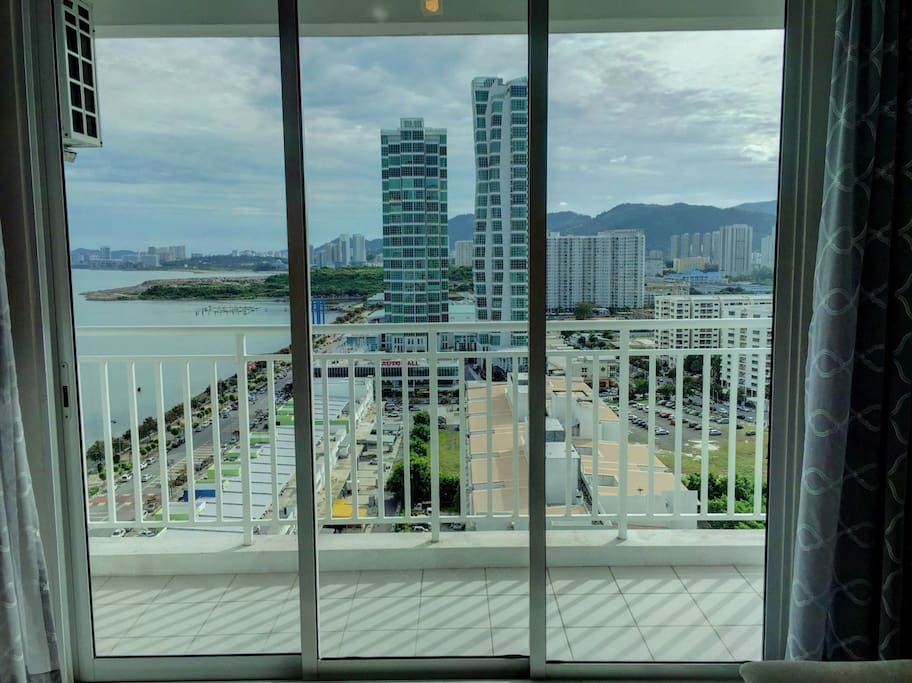 Automall city view from the living room!