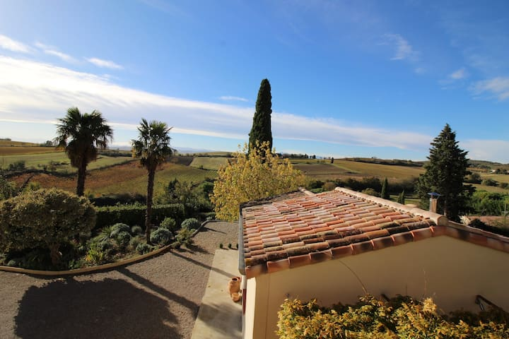 Le Petit Cinq, holiday home with a pool and view